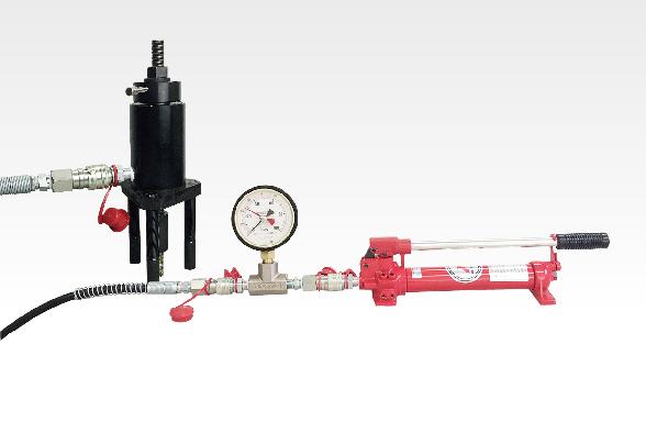 油圧式加圧装置(アナログ表記)