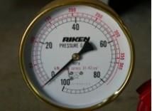 圧力計の確認