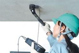 天井・壁面も楽々測定