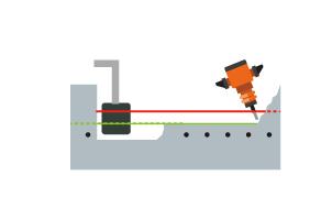 鉄筋、配管に当たることなく、 ハツリ作業・工事を進めることが可能