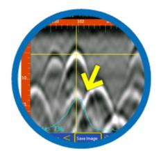 鉄筋の裏にある電線管も電流で探知!